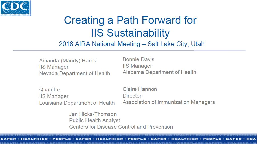 Creating a Path Forward for IIS Sustainability