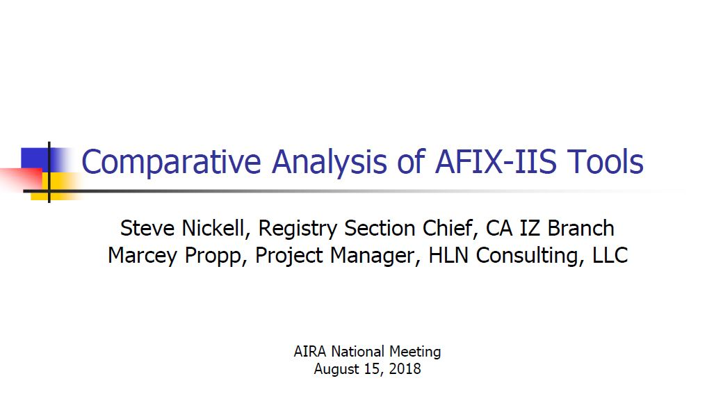 Comparative Analysis of AFIX-IIS Tools