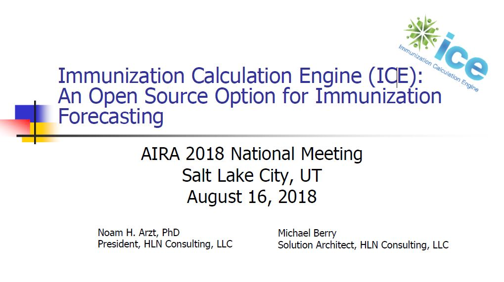 Immunization Calculation Engine: An Open Source Option for Immunization Forecasting