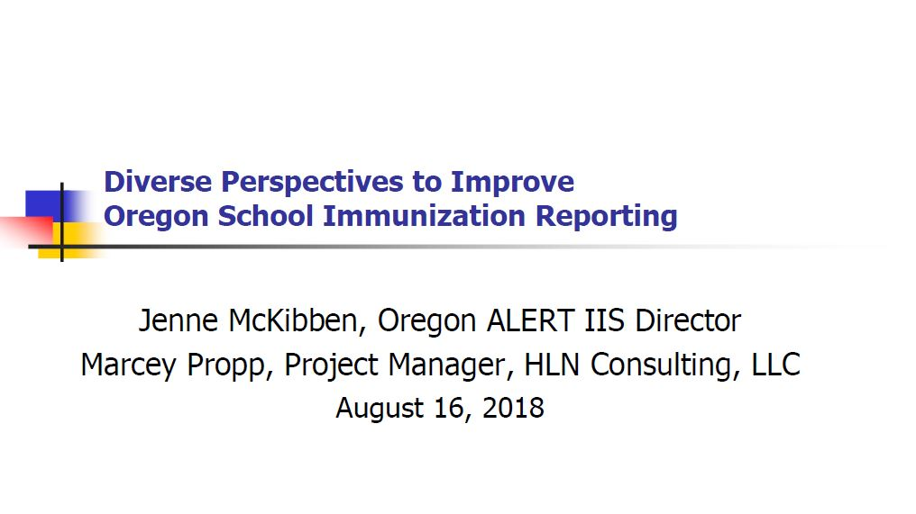Diverse Perspectives to Improve Oregon School Immunization Reporting