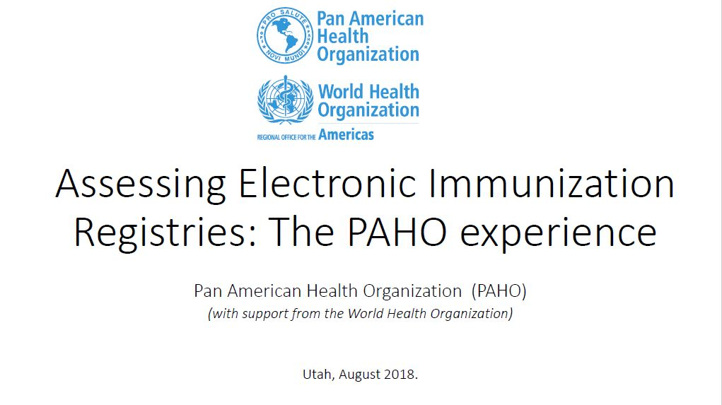 Assessing Electronic Immunization Registries: The PAHO experience