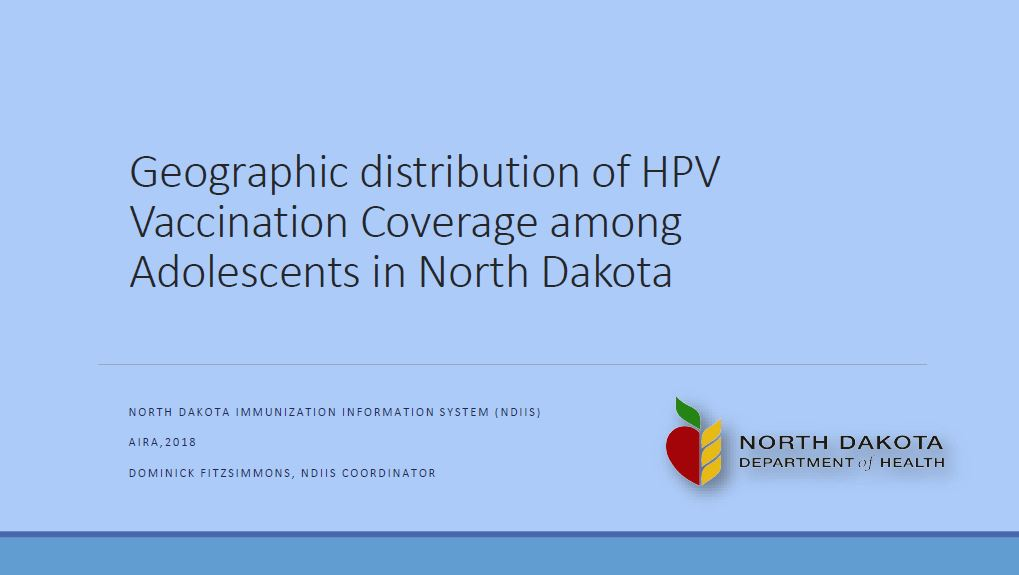 Geographic Distribution of HPV Vaccination Coverage Among Adolescents in North Dakota