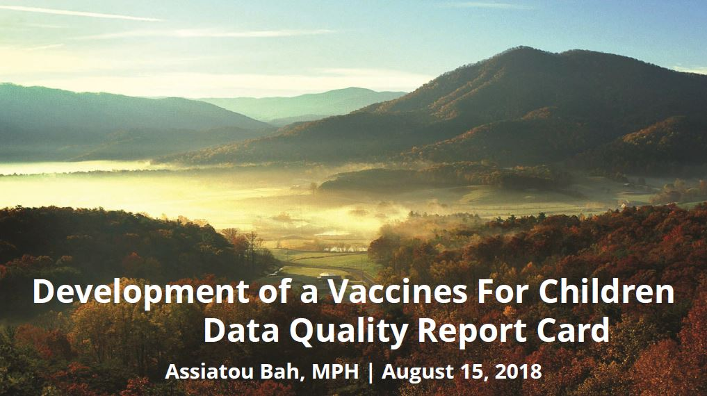 Development of a Vaccines For Children Data Quality Report Card