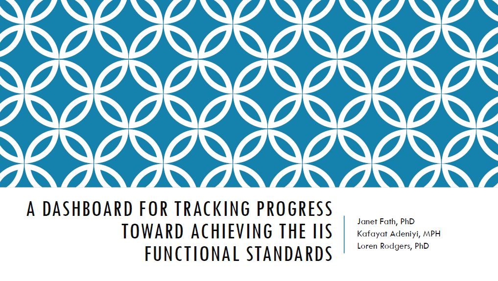 A Dashboard for Tracking Progress Toward Achieving the IIS Functional Standards