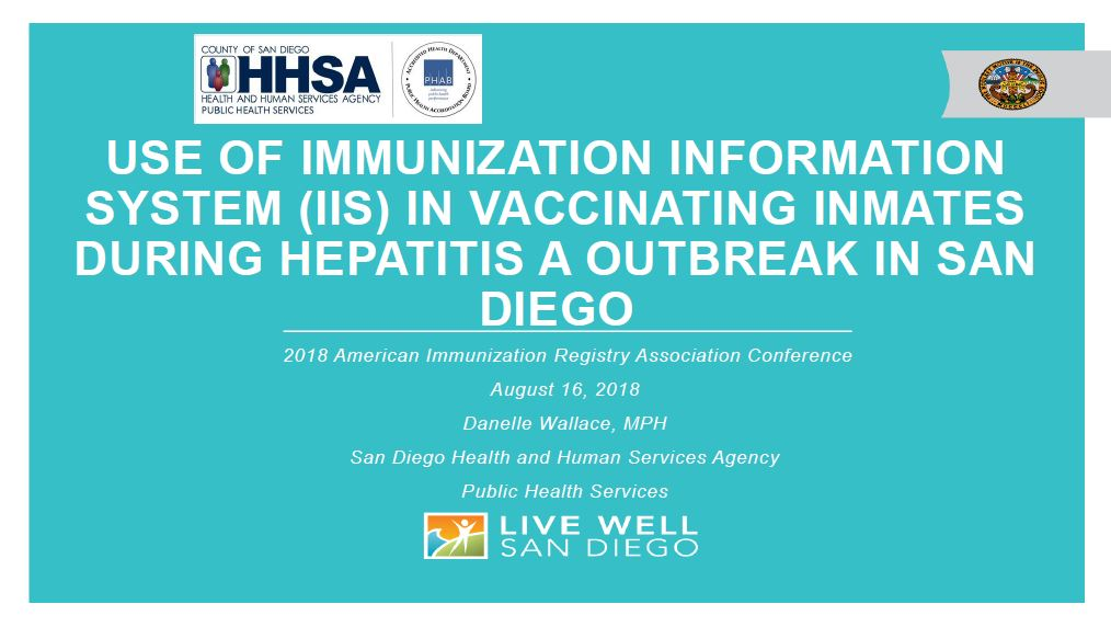 Use of Immunization Information System in Vaccinating Inmates During Hepatitis A Outbreak in San Diego