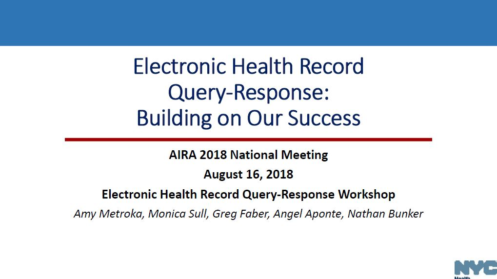 Electronic Health Record Query-Response: Building on Our Success