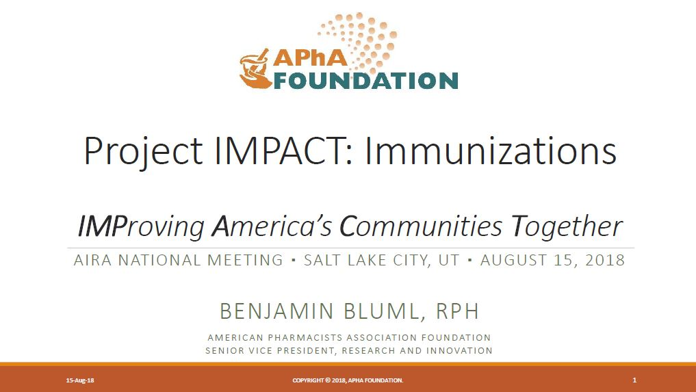 Project IMPACT Immunizations: IMProving America's Communities Together