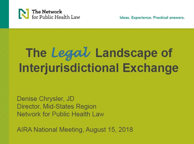 The Legal Landscape of Interjurisdictional Exchange