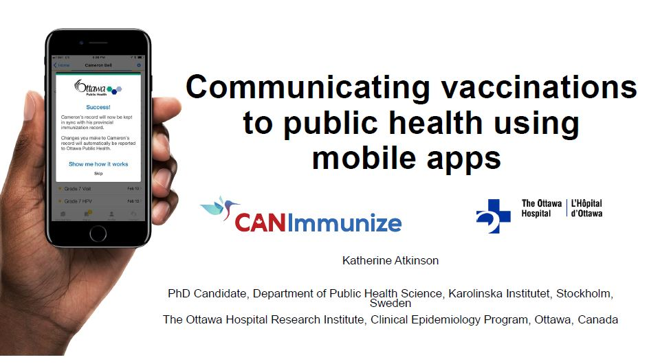 Communicating Vaccinations to Public Health Using Mobile Apps