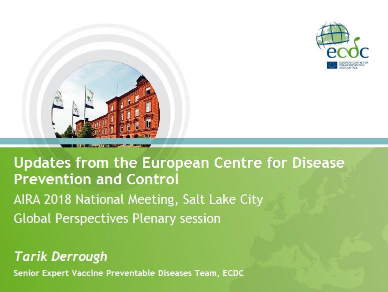 Updates from the European Centre for Disease Prevention and Control