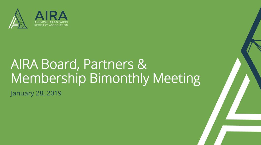 AIRA Members and Partners Meeting: January 2019