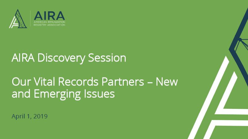 AIRA Discovery Session: Vital Records