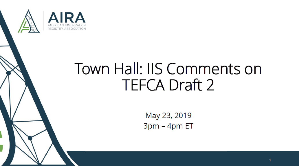 AIRA Town Hall: ONC TEFCA Draft 2