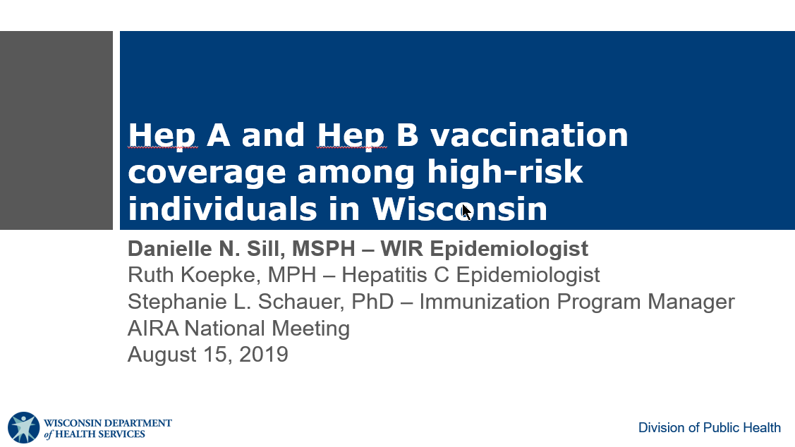 Hep A and Hep B Vaccination Coverage Among High-Risk Individuals in Wisconsin