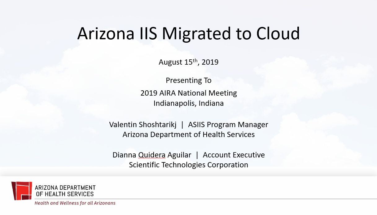 Arizona IIS Migrated to Cloud