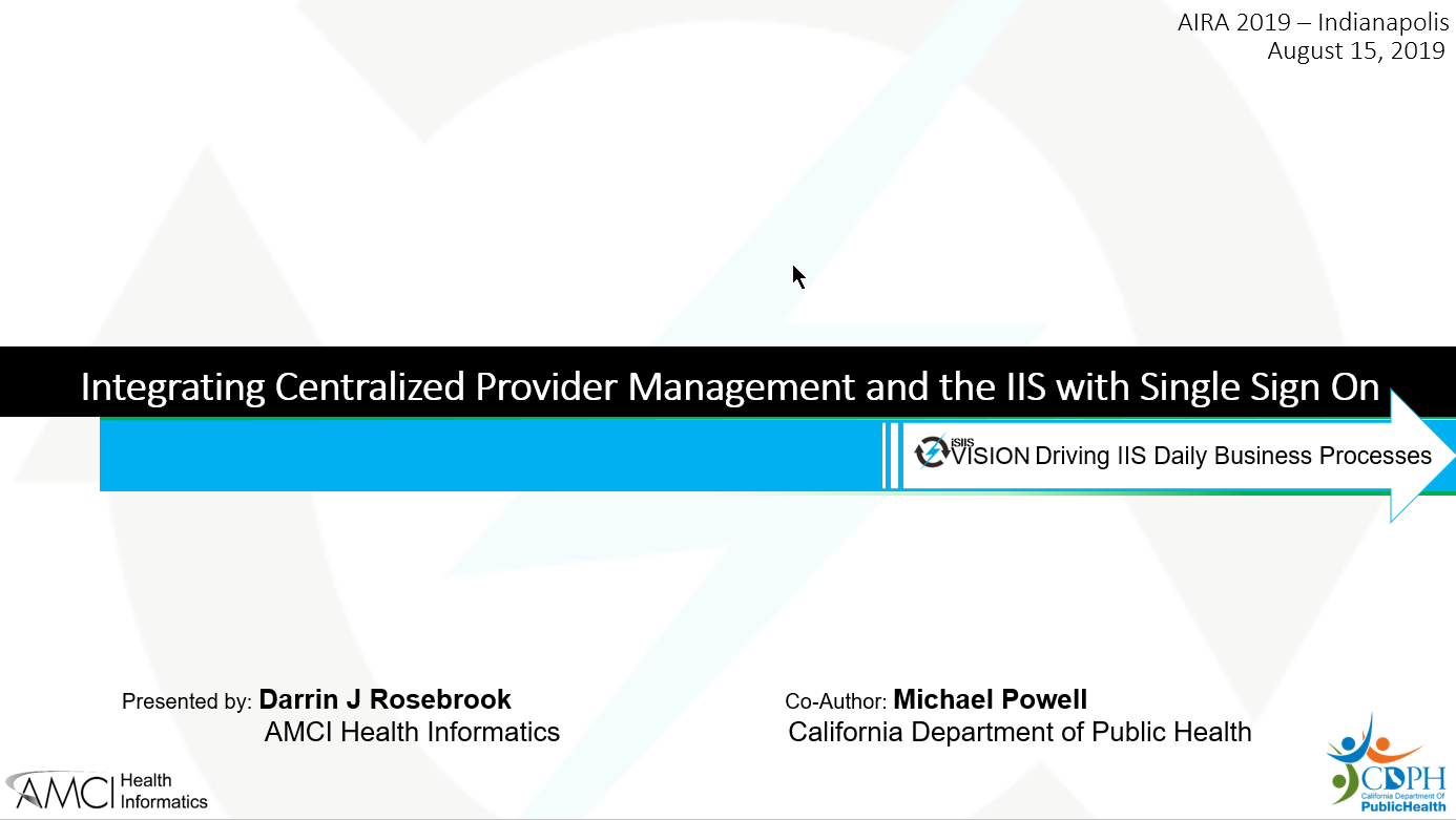 Integrating Centralized Provider Management and the IIS with Single Sign-on