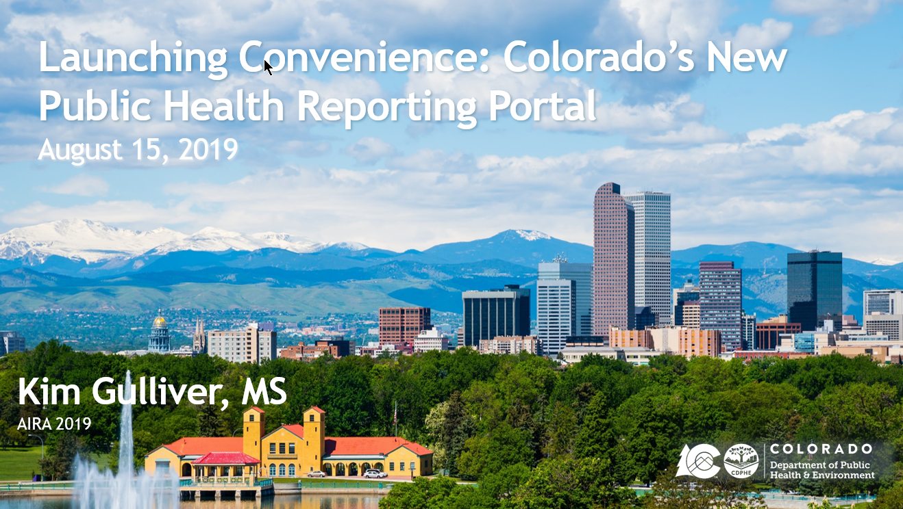 Launching Convenience: Colorado's New Public Health Reporting Portal