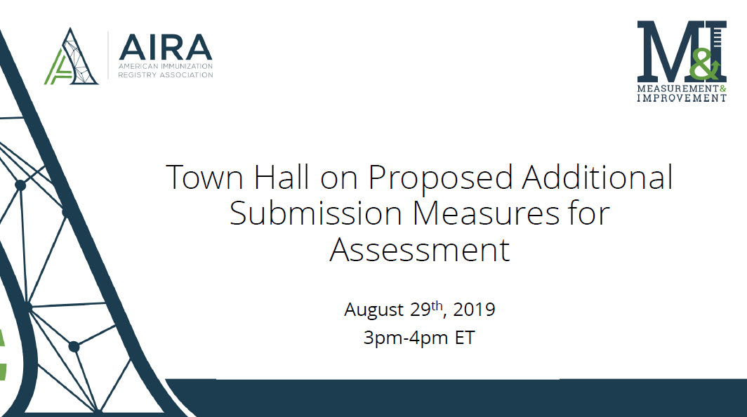 AIRA Town Hall: Proposed Additional Submission Measures for Assessment