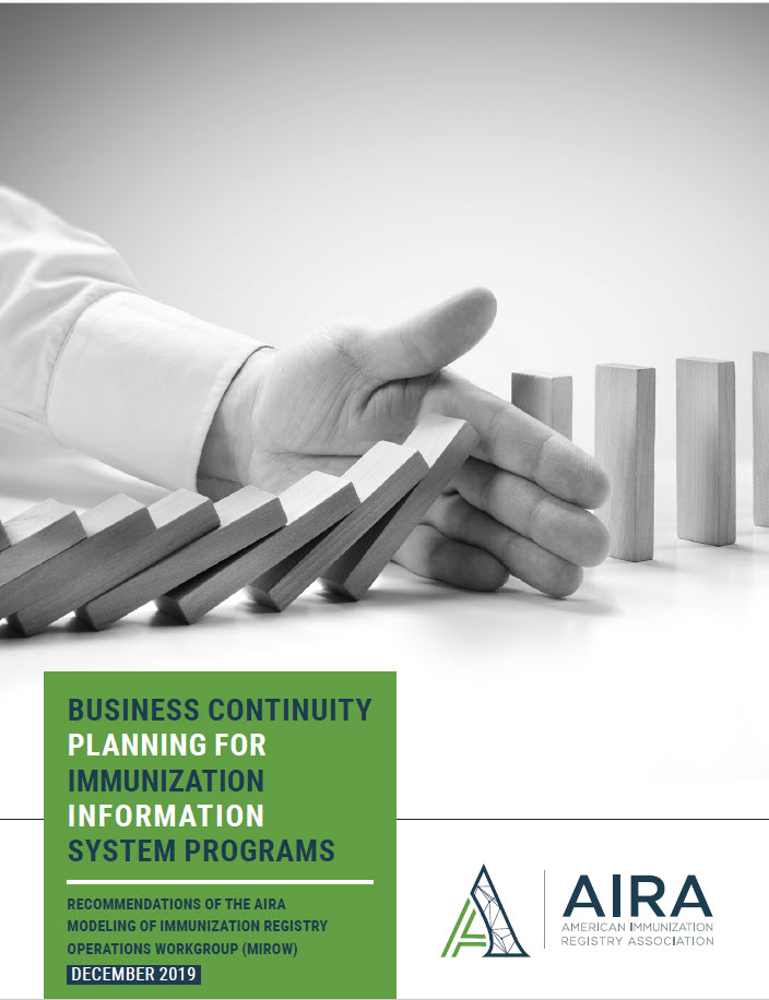 Business Continuity Planning for Immunization Information System Programs