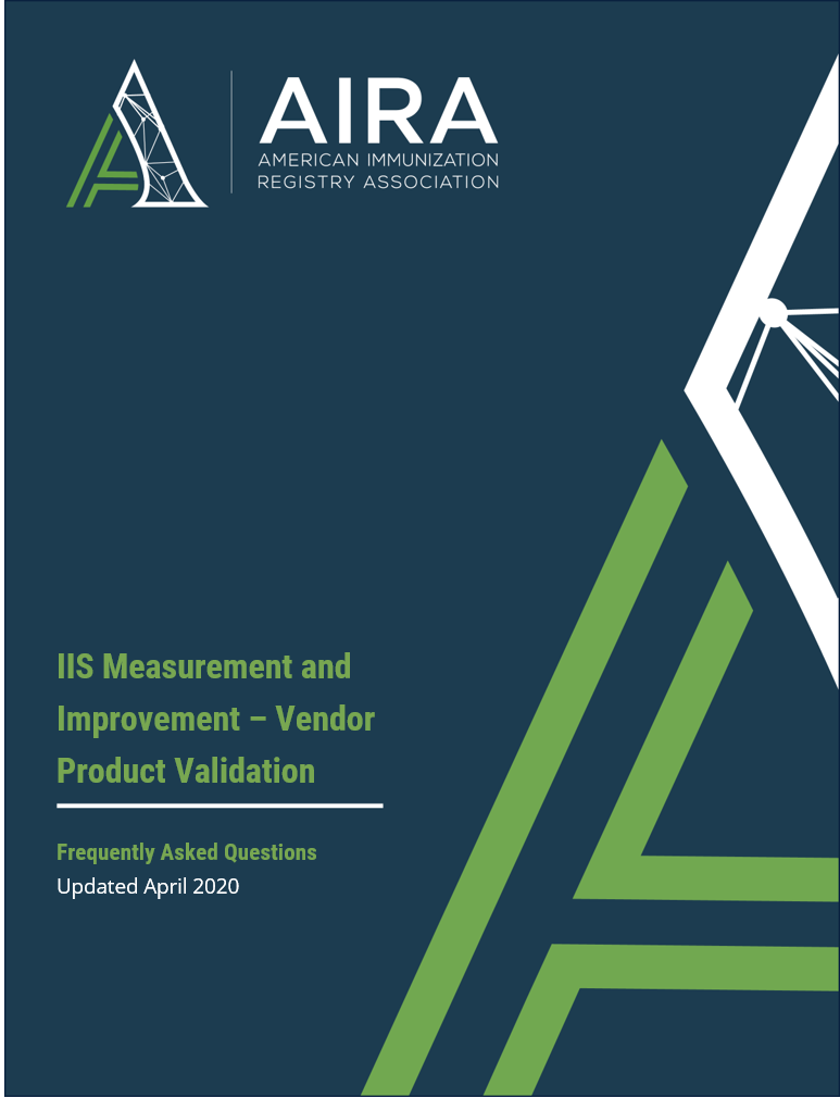 IIS Measurement and Improvement – Vendor Product Validation