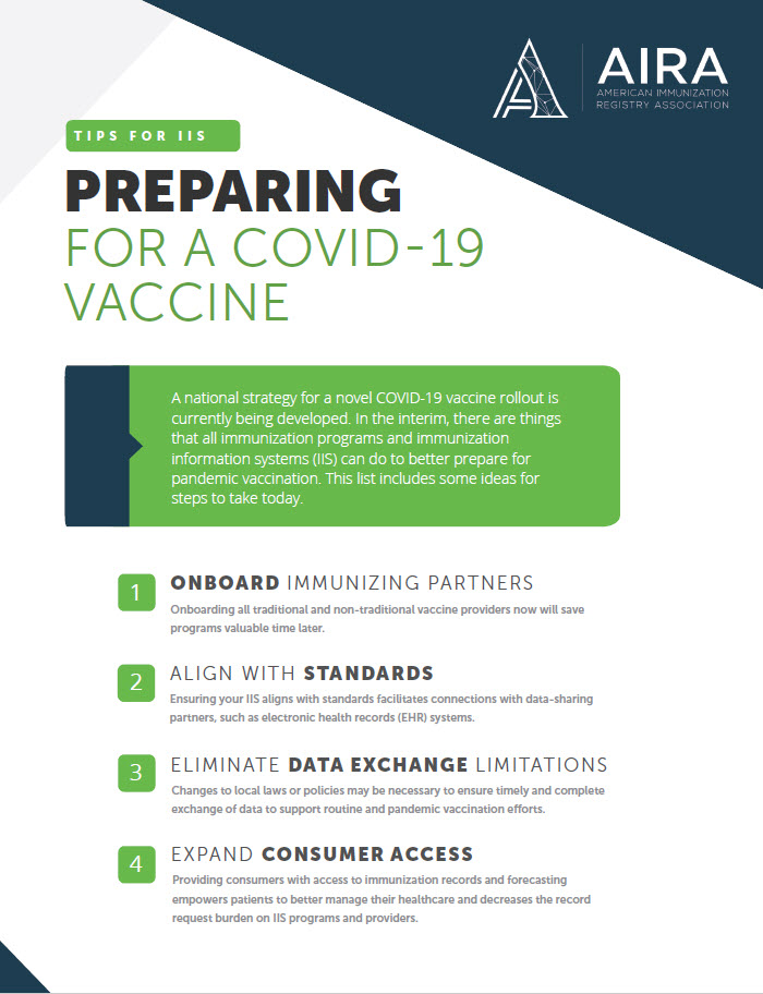 Preparing for a COVID-19 Vaccine One-Sheet