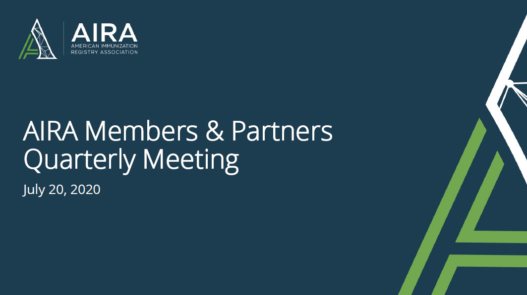 AIRA Members and Partners Meeting: July 2020