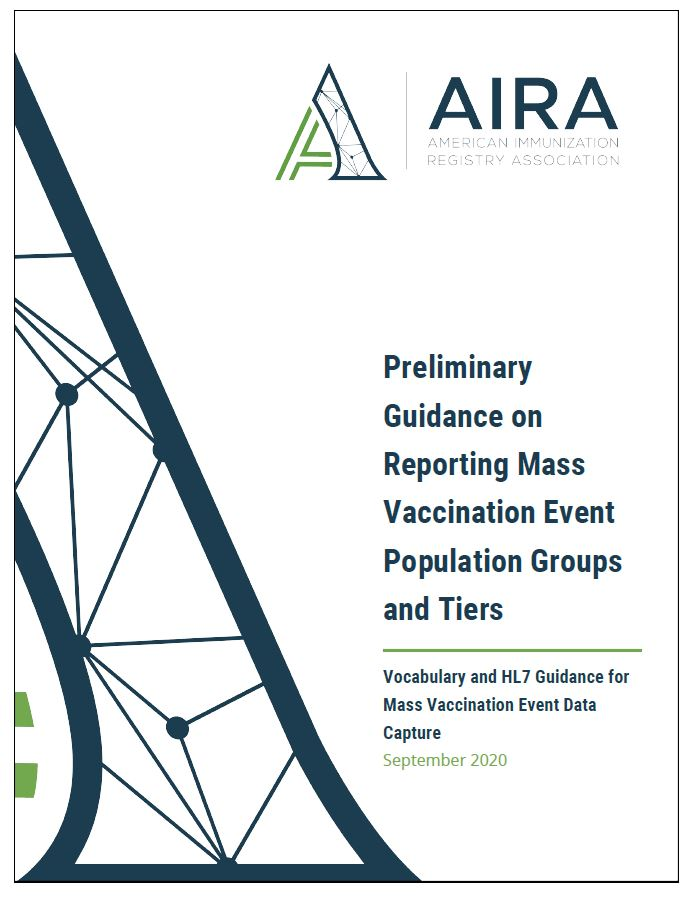 Preliminary Guidance on Reporting Mass Vaccination Event Population Groups and Tiers